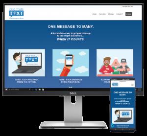 One-Team-Text-Website-Display